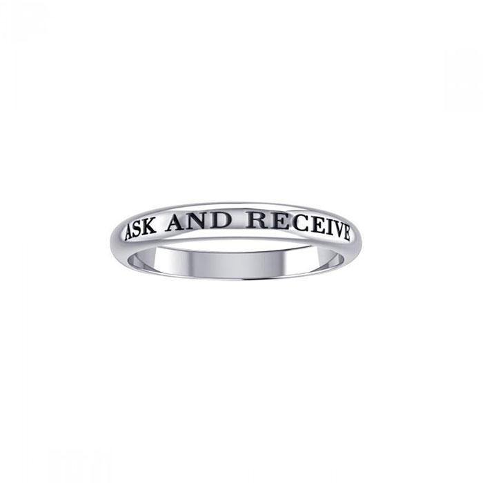 Ask and Receive Silver Ring TRI422 peterstone.