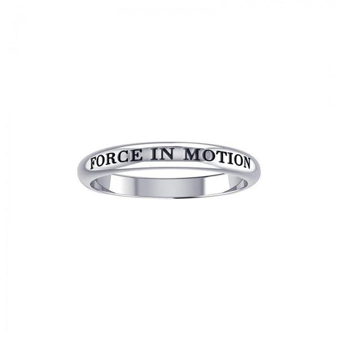 Force In Motion Silver Ring TRI430