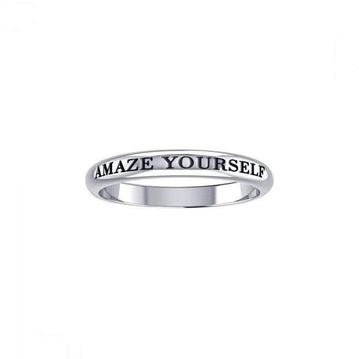 Amaze Yourself Silver Ring TRI433