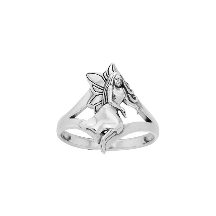Gesturing Fairy Silver Ring TRI520