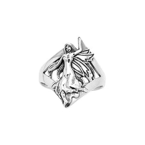 Dance her way to your heart ~ Sterling Silver Jewelry Dancing Fairy Ring TRI522 peterstone.