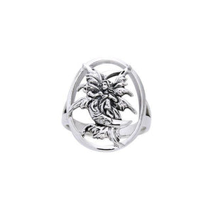 Stargazer Fairy Silver Ring TRI526 peterstone.