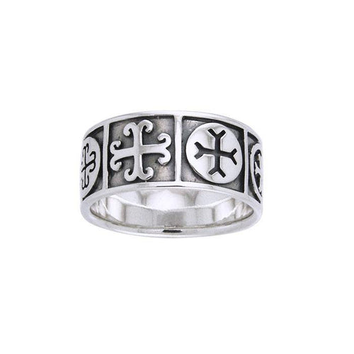 Medieval Crosses Sterling Silver Ring TRI532 peterstone.