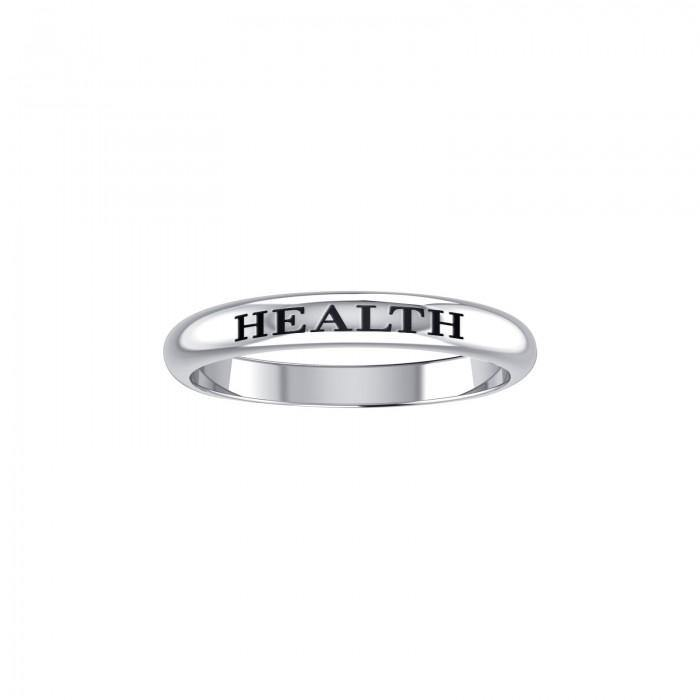 HEALTH Sterling Silver Ring TRI604 peterstone.