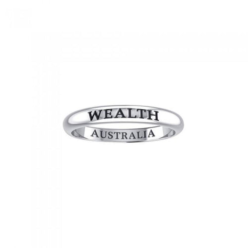 WEALTH AUSTRALIA Sterling Silver Ring TRI605 peterstone.