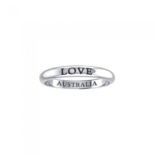 LOVE AUSTRALIA Sterling Silver Ring TRI608 peterstone.