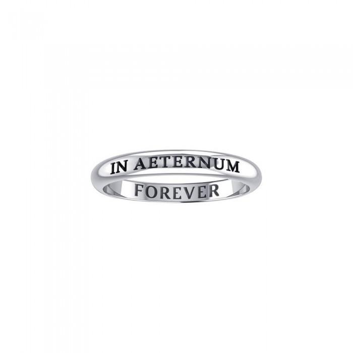 IN AETERNUM FOREVER Sterling Silver Ring TRI609 peterstone.