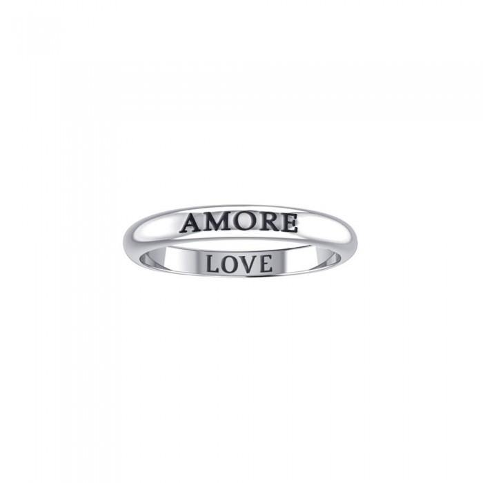 AMORE LOVE Sterling Silver Ring TRI610