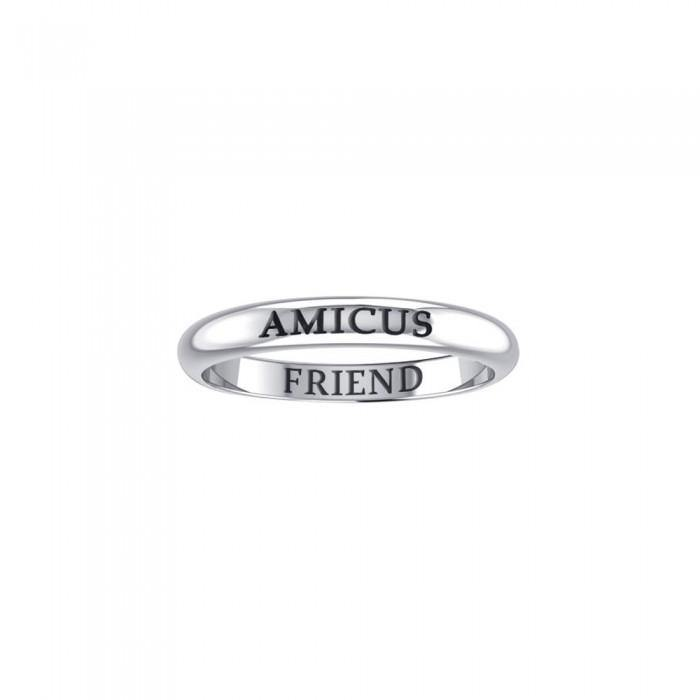 AMICUS FRIEND Sterling Silver Ring TRI611 peterstone.