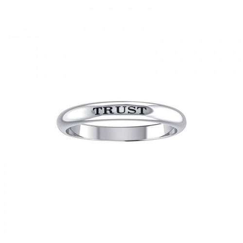 TRUST Sterling Silver Ring TRI612 peterstone.