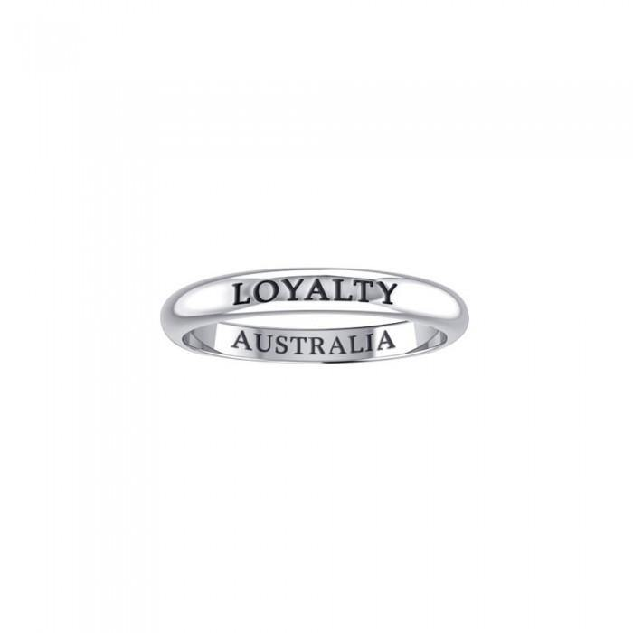 LOYALTY AUSTRALIA Sterling Silver Ring TRI613