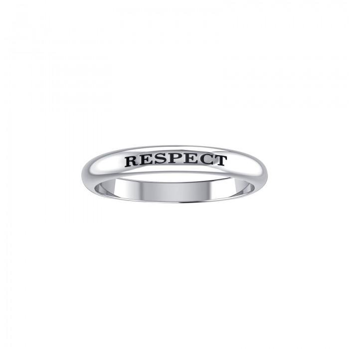 RESPECT Sterling Silver Ring TRI614