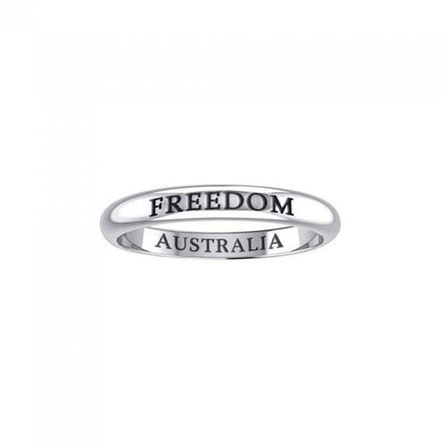 FREEDOM AUSTRALIA Sterling Silver Ring TRI616 peterstone.