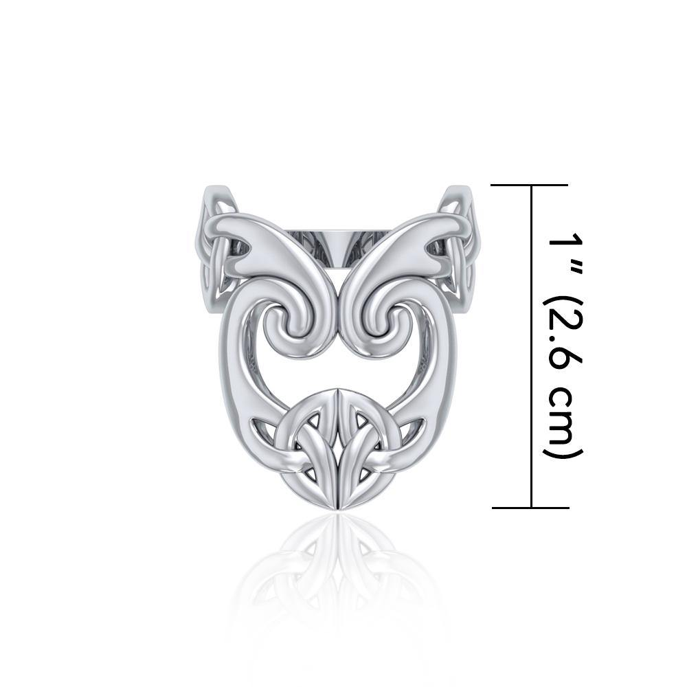 The deity's pervasive energy Silver Celtic Triquetra Ring TRI634