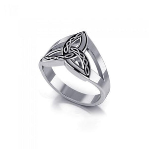 Braided Celtic Triquetra Ring TRI657 peterstone.