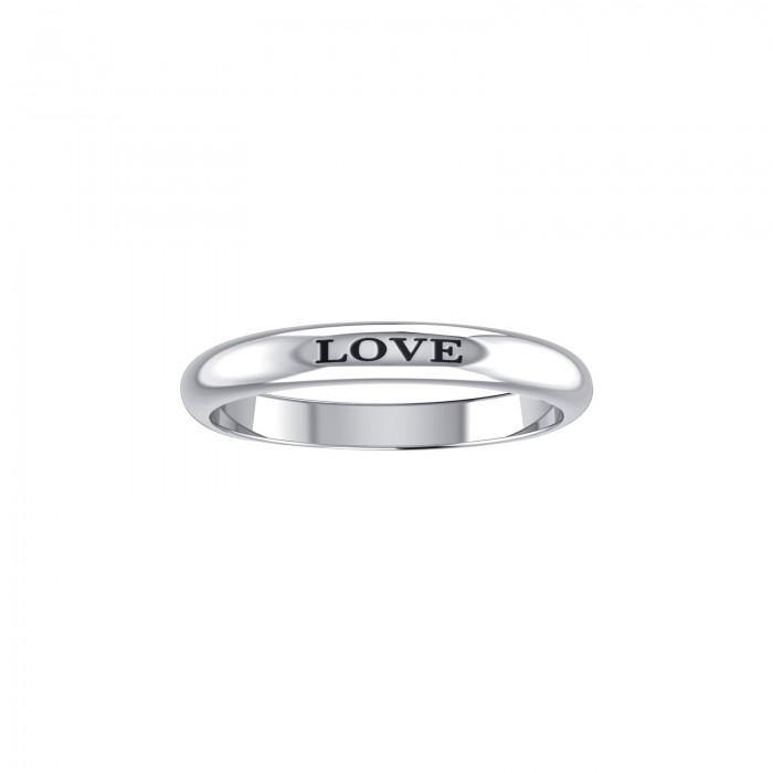 LOVE Sterling Silver Ring TRI684