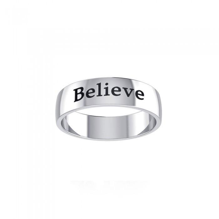 Believe Silver Ring TRI699