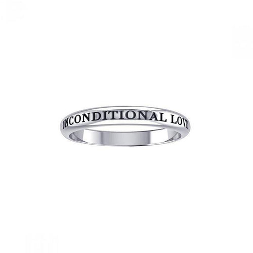 Unconditional Love Silver Ring TRI753 peterstone.
