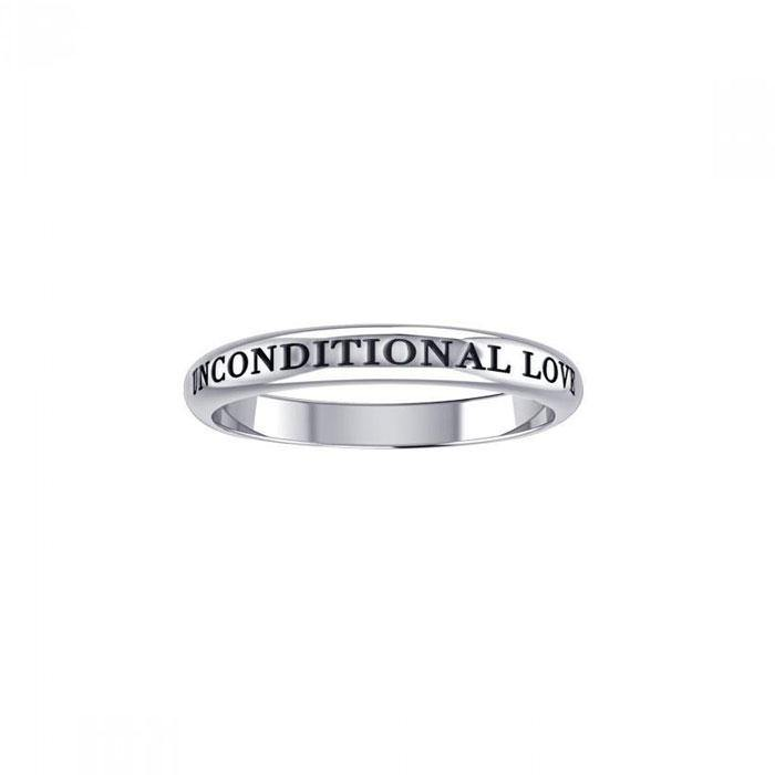 Unconditional Love Silver Ring TRI753