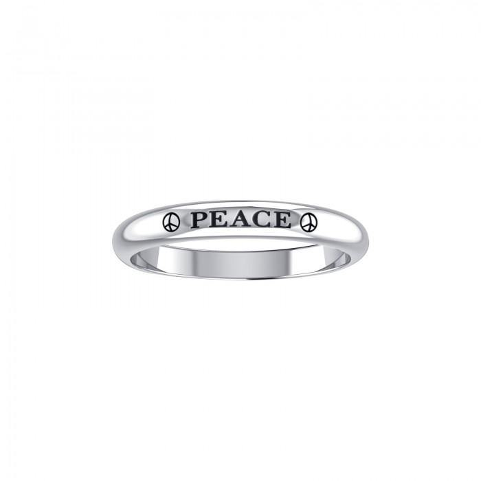 PEACE Sterling Silver Ring TRI758