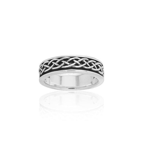 Celtic Spinner Band Ring TRI769 peterstone.