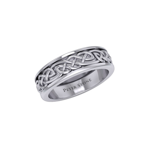 Celtic Spinner Band Ring TRI770 peterstone.