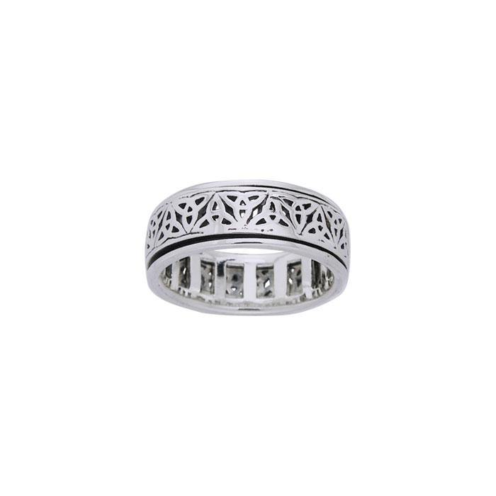 Celtic Triquetra Spinner Ring TRI884