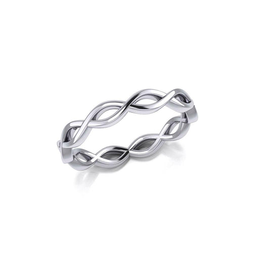Modern Celtic Infinity Sterling Silver Ring TRI898 peterstone.