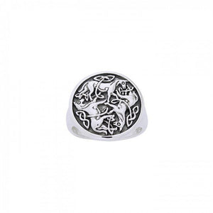 Celtic Knot Horse Ring TRI901