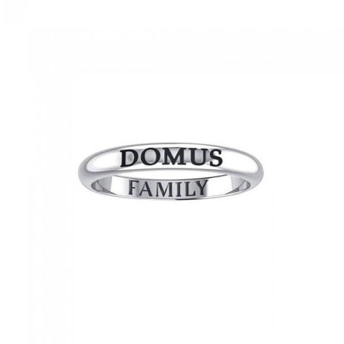 DOMUS FAMILY Sterling Silver Ring TRI919 peterstone.