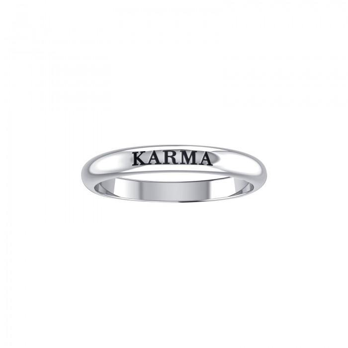 KARMA Sterling Silver Ring TRI923