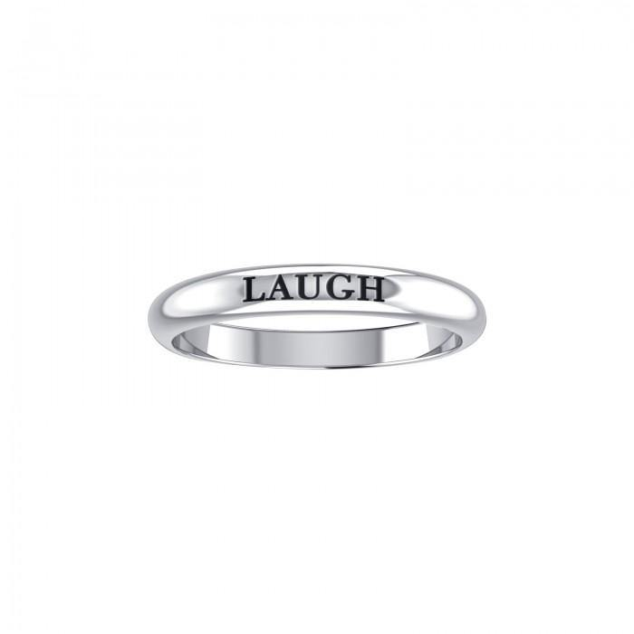 LAUGH Sterling Silver Ring TRI928 peterstone.