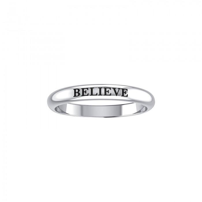BELIEVE Sterling Silver Ring TRI944