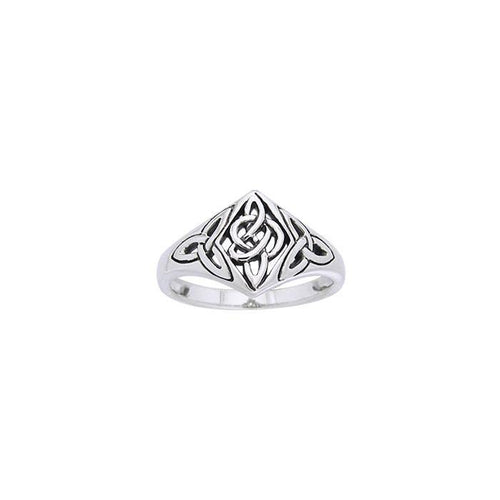 Celtic Trinity Knot Sterling Silver Ring TRI968