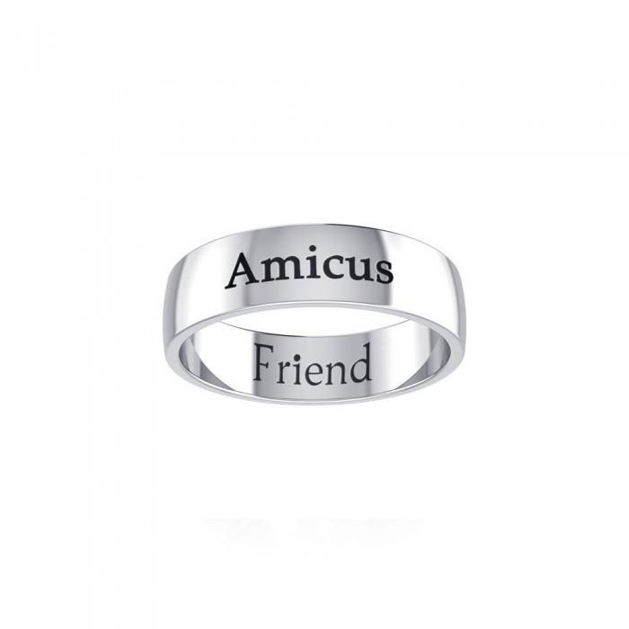 AMICUS FRIEND Sterling Silver Ring TRI978