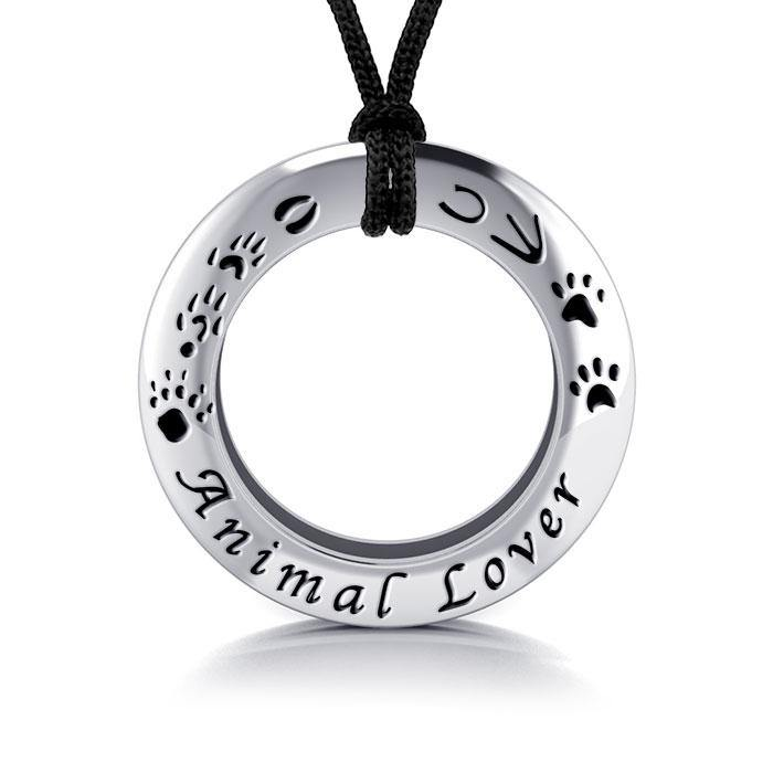 Animal Lover Silver Ring and Cord Set TSE262 peterstone.