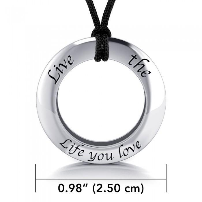 Live The Life You Love Silver Pendant and Cord Set TSE277
