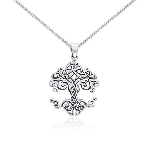 Large Silver Timeless Tree of Life Pendant and Chain Set by Cari Buziak TSE753 peterstone.