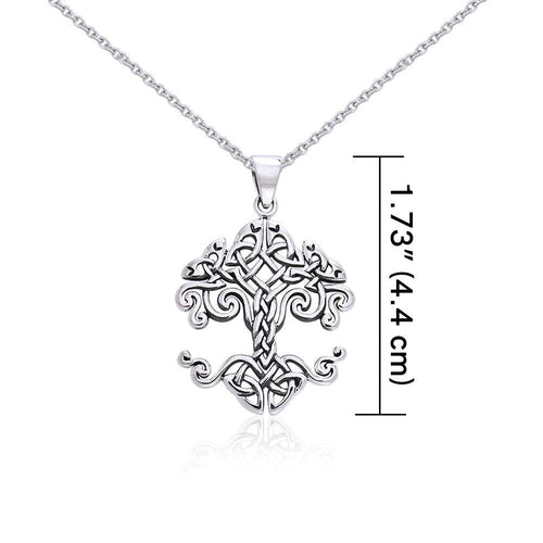 Details about  / Celtic Knotwork Sterling Silver Tree of Life Pendant by peter stone Jewelry
