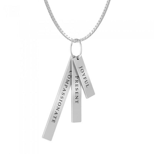3 Words That Matter Rectangle Charm Set (Smaller Version) peterstone.