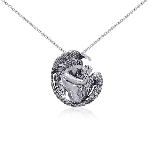 Silver Motherhood Mermaid Pendant and Chain Set by Selina Fenech TSE774