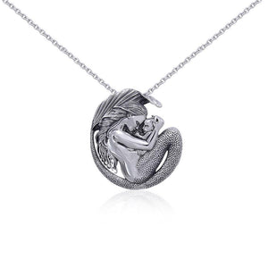 Silver Motherhood Mermaid Pendant and Chain Set by Selina Fenech TSE774 peterstone.