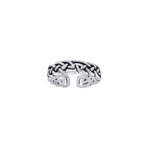 Celtic Knot Work Sterling Silver Toe Ring TTR069