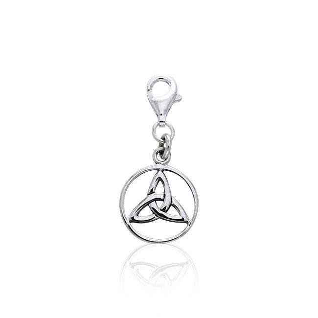 Triquetra Silver Clip Charm TWC022 peterstone.