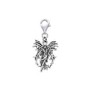 Fire Element Fairy Silver Clip Charm TWC028