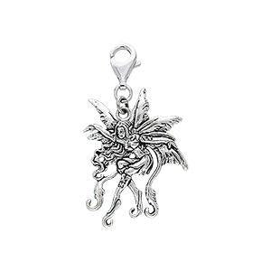 Vines Fairy Silver Clip Charm TWC030 peterstone.