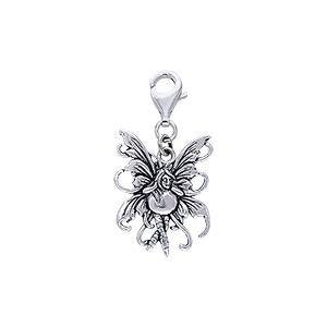 Bubble Rider Fairy Silver Clip Charm TWC033 peterstone.