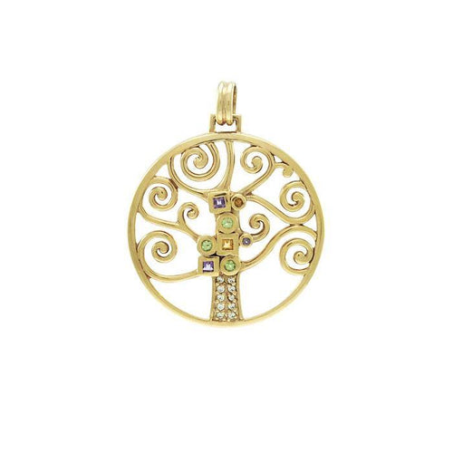 Worthy of the Golden Tree of Life ~ Sterling Silver Jewelry Pendant VPD3878 peterstone.