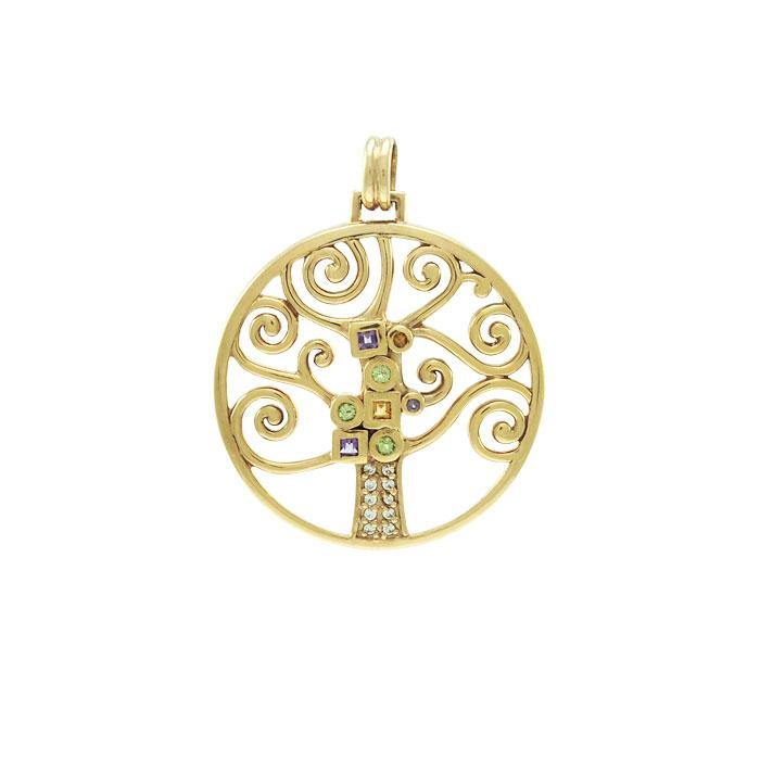 Worthy of the Golden Tree of Life ~ Sterling Silver Jewelry Pendant VPD3878