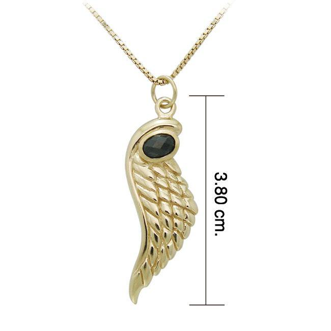 Angel Wing 14K Gold Vermeil Necklace by Amy Zerner VSE447